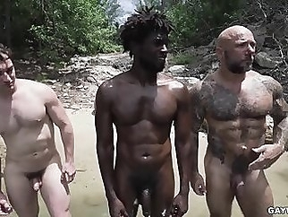 Nude Beach Threesome gay