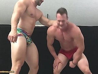 Muscle Hunks Wrestling Some more wrestling workout buddies gay