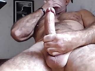 Hot hairy daddy bear having a nice load man (gay) bear (gay) big cock (gay)