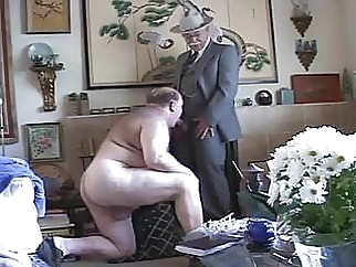 Gay old mature grandpa sucking the other grandpa's cock amateur (gay) bear (gay) daddy (gay)