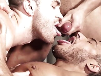 Jackson Radiz, Diego Lauzen and Brock Magnus (CRD P4) bareback group sex latino