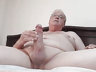 Daddy masturbates his big dick twice with close up cum shots amateur (gay) bear (gay) big cock (gay)