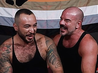 Bearback - Beefy Bears Enjoy Each Other bareback (gay) bear (gay) big cock (gay)