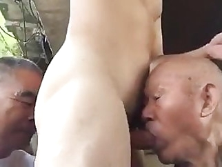 Two chinese grandpas share cock & ass outdoors 3:24 2020-02-21