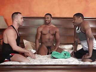Jackson Radiz, Sean Xavier and Adonis Couverture (FRAR P4) bareback group sex interracial